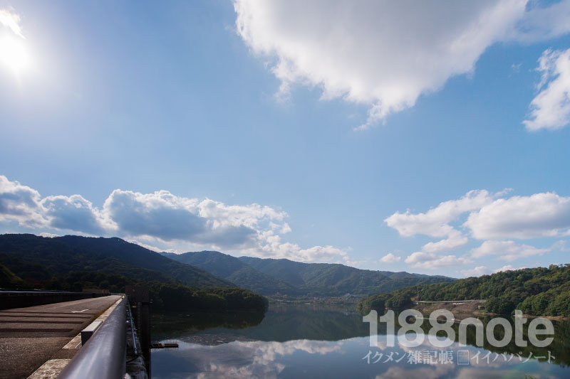 土師ダムの堤体・上流側