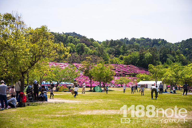 広島市森林公園の芝生広場