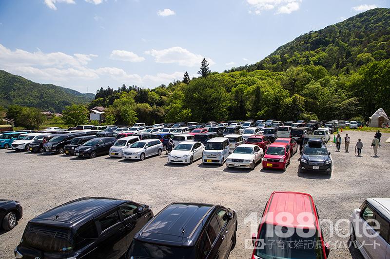 上ノ原牧場の駐車場