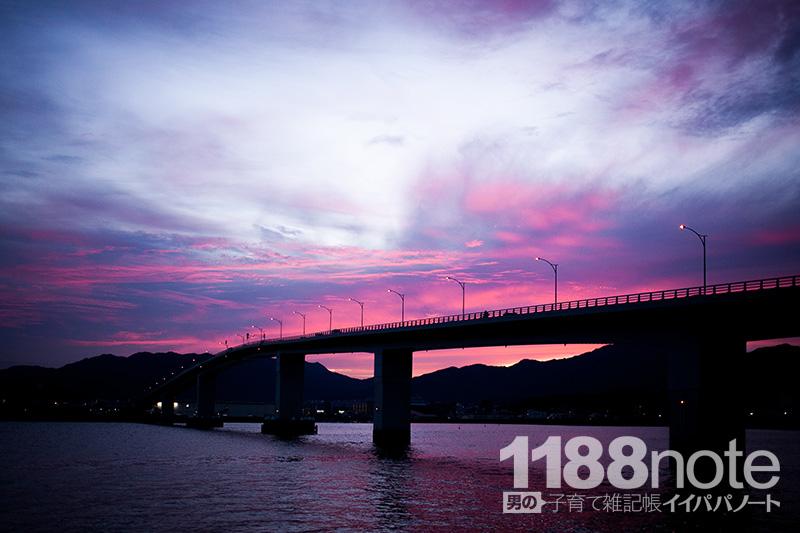 五日市港から見たはつかいち大橋