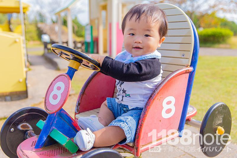 せら夢公園で遊ぶ赤ちゃん
