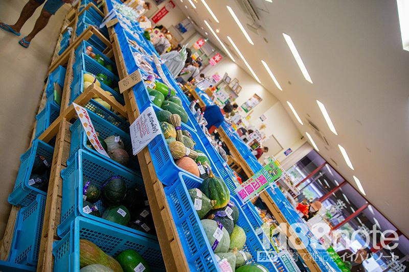 道の駅 湖畔の里 福富で売られている野菜