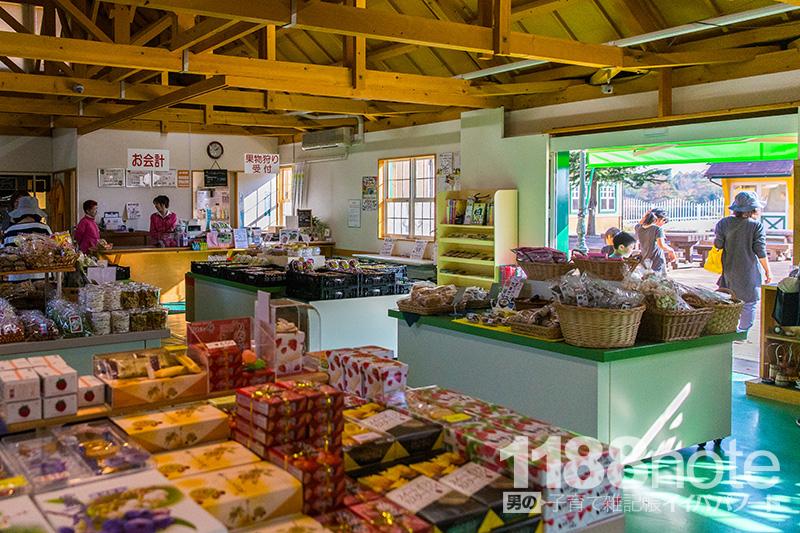 広島県三原市果実の森の売店の中