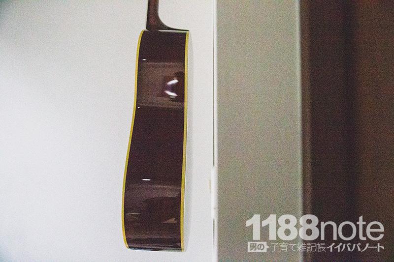 ヘラクレスのギターハンガーと壁との距離感