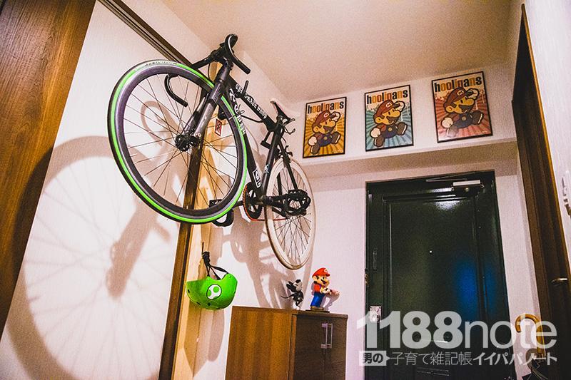 MINOURA(ミノウラ) バイクハンガー4Rで自転車を壁掛け