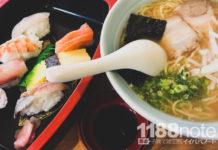 お食事処たかや・たかや寿司の握り寿司ラーメンセット