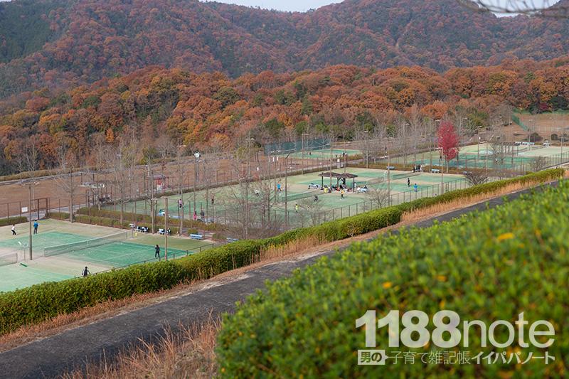 広島市安芸区瀬野川公園のテニスコート