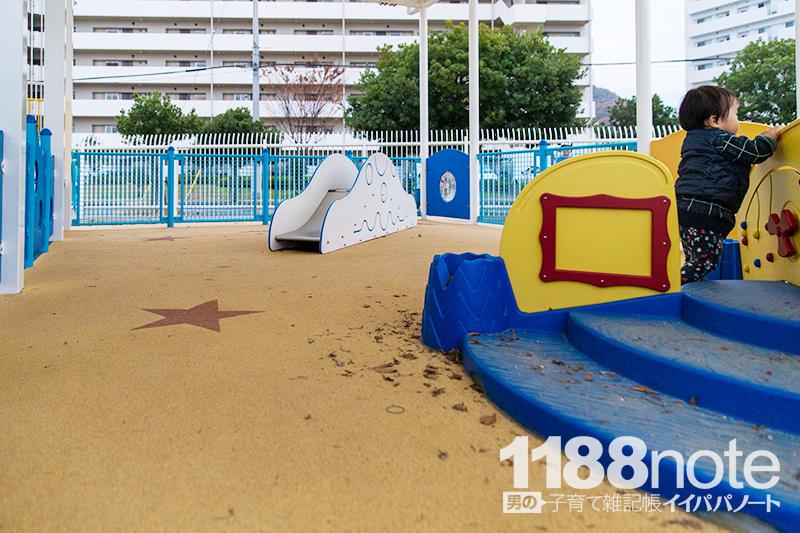坂なぎさ公園の赤ちゃん用遊具