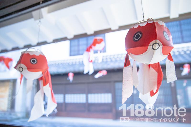 山口県柳井市の金魚ちょうちん