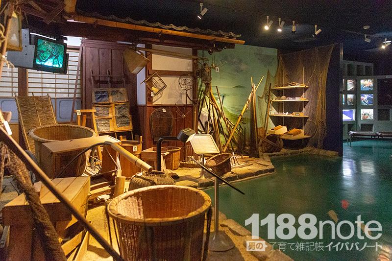 広島市水産振興センター昔の漁具